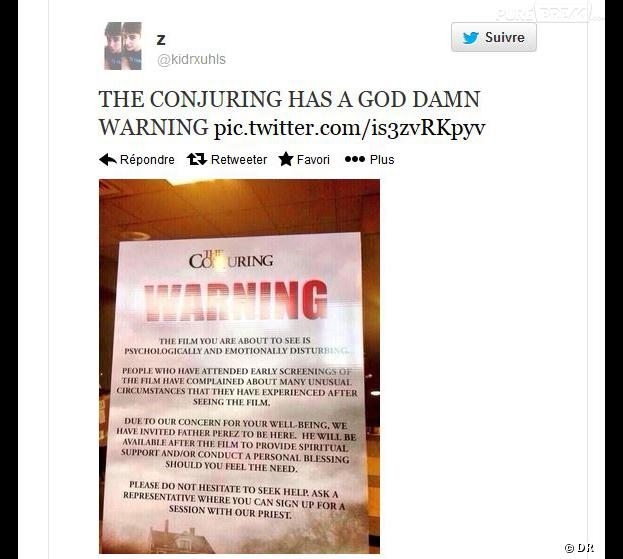 CONJURING  -  warning