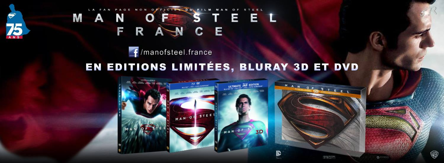 MAN OF STEEL - bandeau Blu-ray DVD