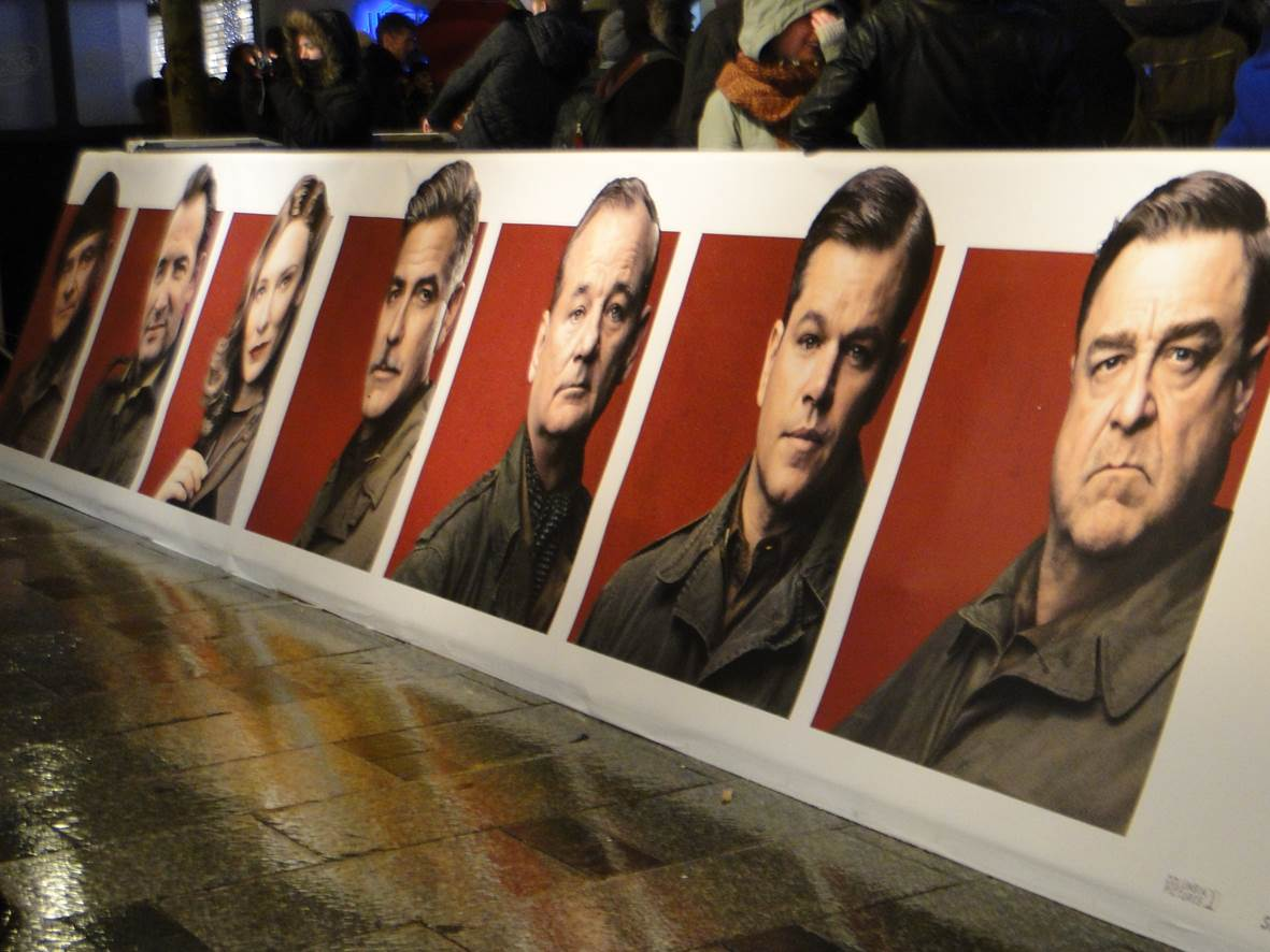 MONUMENTS MEN - Tapis Rouge Paris - Go with the Blog