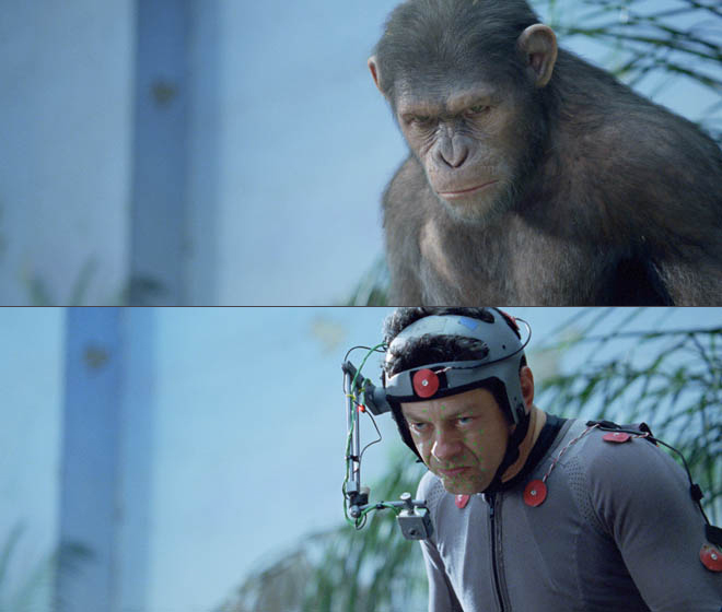 LA PLANÈTE DES SINGES L'AFFRONTEMENT - motion capture