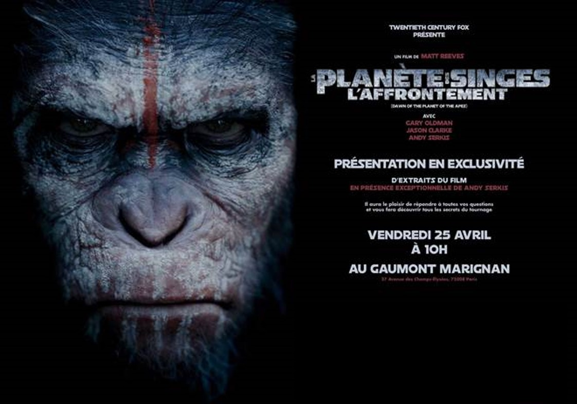 LA PLANÈTE DES SINGES L'AFFRONTEMENT - rencontre avec Andy Serkis - Go with the Blog