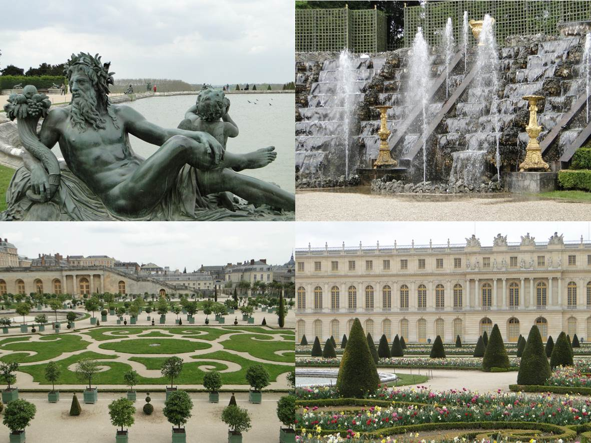 VERSAILLES - montage 4 photos - Go with the Blog