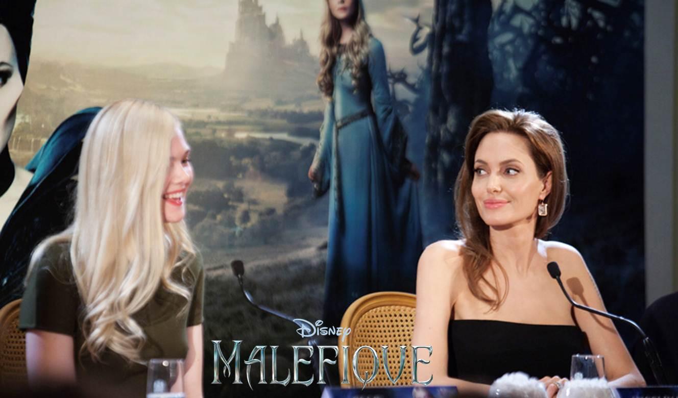 Angelina Jolie et Elle Fanning nous présentent MALÉFIQUE à Paris !