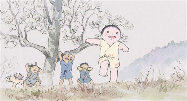 Le Conte de la princesse Kaguya - images du film - go with the blog