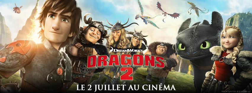 DRAGONS 2 - bandeau du film - Go with the Blog