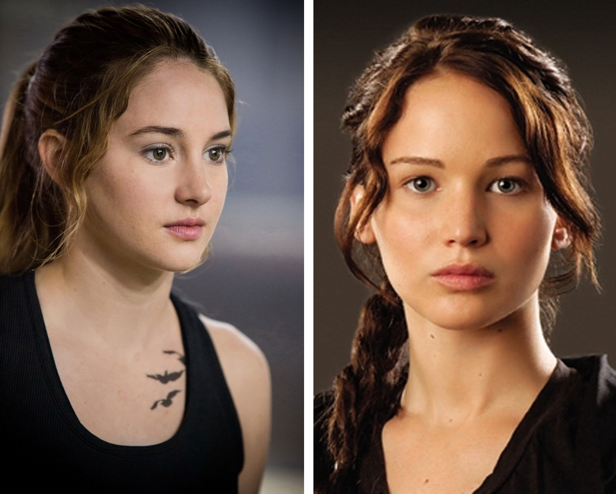 DIVERGENTE HUNGER GAMES - Tris Katniss - Shailene Woodley Jennfier Lawrence - Go with the Blog