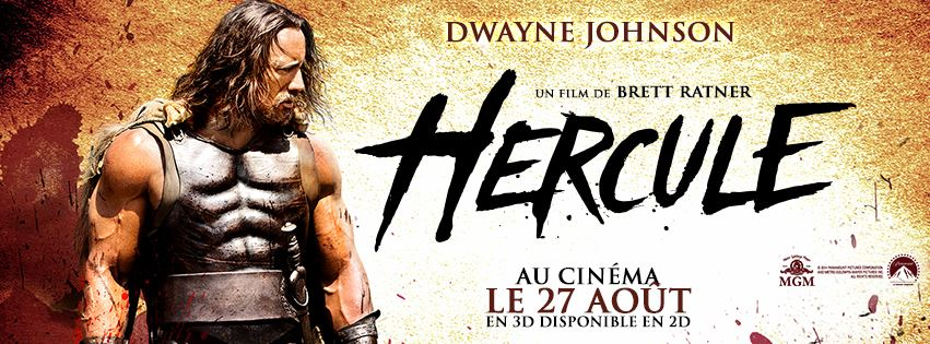 HERCULE - Dwayne Johnson - bandeau du film France - Go with the Blog