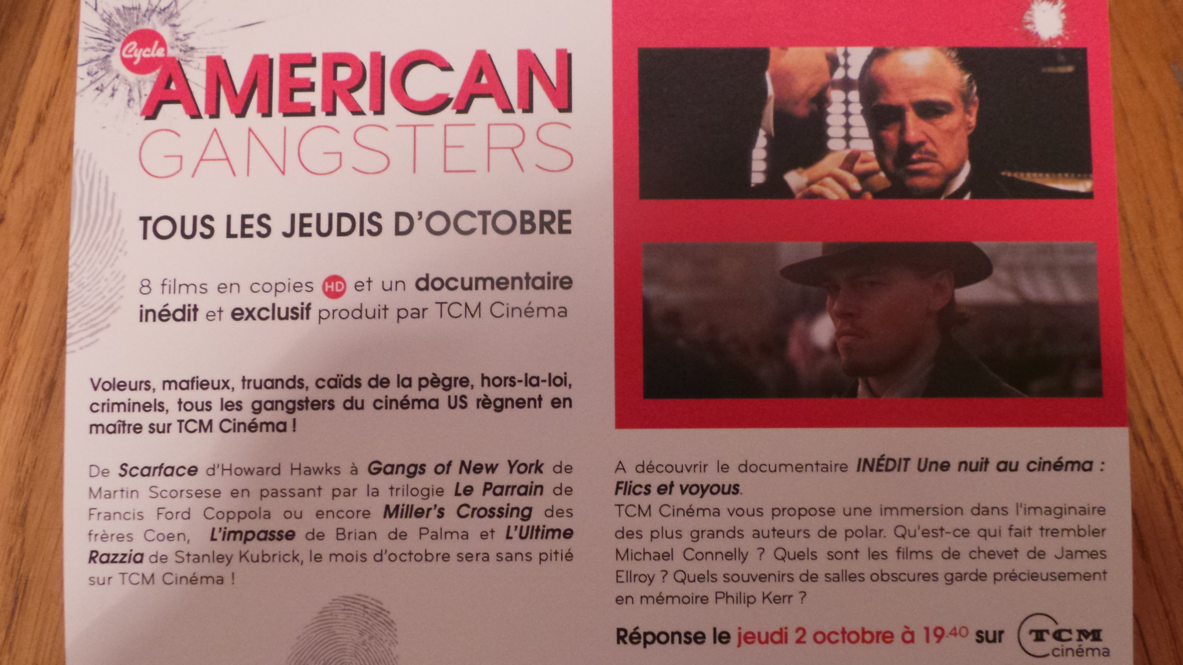 Cycle American Gangsters TCM Cinéma - Visuel 2 - Go with the Blog