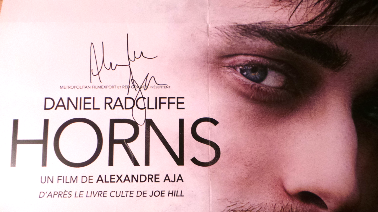 HORNS - Poster signed by Alexandre Aja Premiere in Paris - Go with the Blog