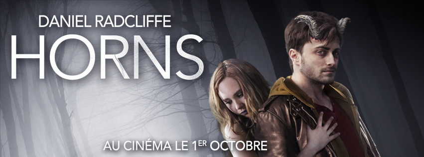 HORNS - bandeau visuel France Daniel Radcliffe Juno Temple - Go with the Blog
