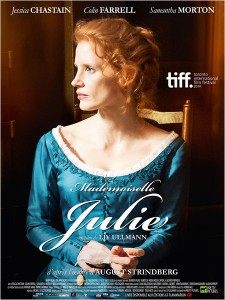 MADEMOISELLE JULIE - affiche France du film Jessica Chastain - Go with the Blog