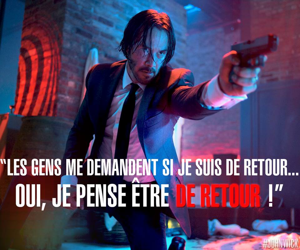 JOHN WICK - visuel Keanu Reeves come back - concours Go with the Blog