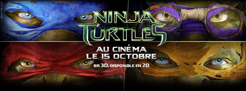 NINJA TURTLES - visuel bandeau image large 4 tortues 2014 - Go with the Blog