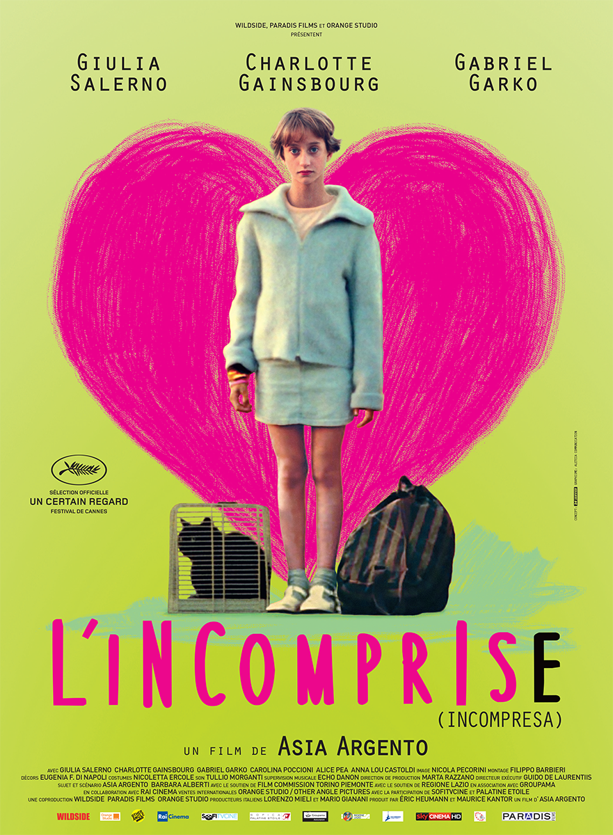 L'INCOMPRISE - Affiche FRANCE du film Asia Argento 2014 INCOMPRESA - Go with the Blog