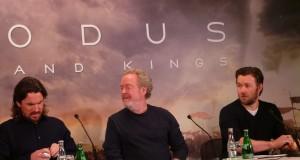 Christian Bale, Ridley Scott & Joel Edgerton à Paris pour EXODUS