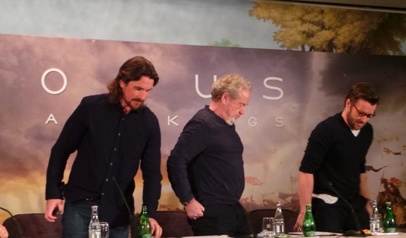 EXODUS - Conference de Presse Paris Ridley Scott Christian Bale Joel Edgerton Decembre 2014 - 20141202_103657