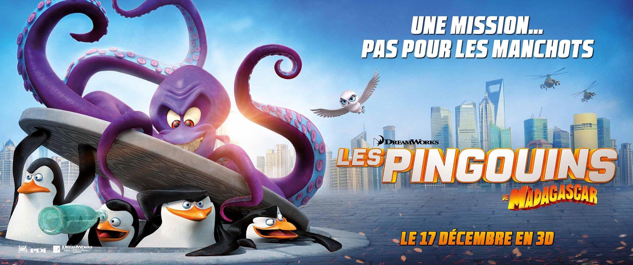 LES PINGOUINS DE MADAGASCAR - BANDEAU DU FILM Visuel large Dreamworks - Go with the Blog