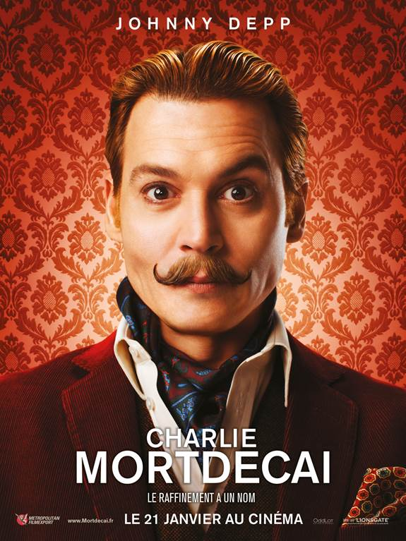 Charlie Mortdecai - Go with the Blog - Affiche du film