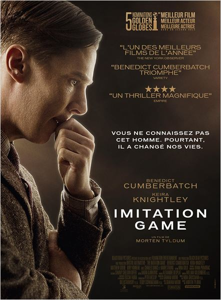 IMITATION GAME - affiche définitive France Benedict Cumberbatch - Go with the Blog