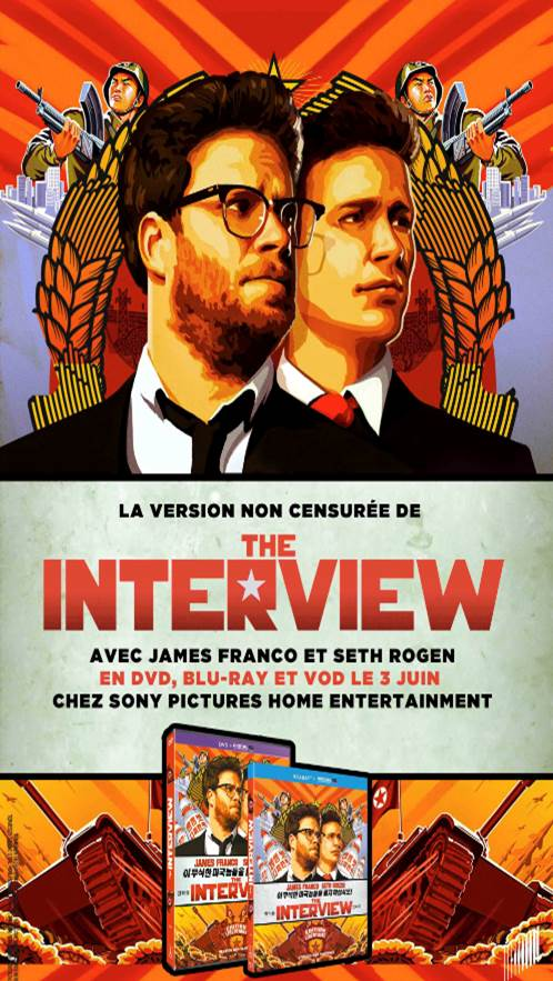 L INTERVIEW QUI TUE - Seth Rogen James Franco Sony Pictures Sortie DVD Bluray Image 3  - Go with the Blog