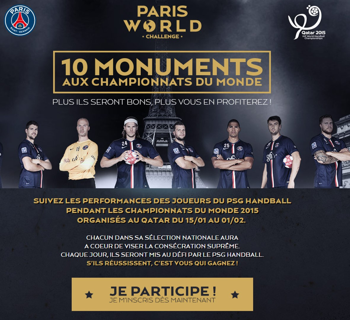 PARIS WORLD CHALLENGE - PSG HAND 2015 Qatar Visuel retravaillé - Go with the Blog