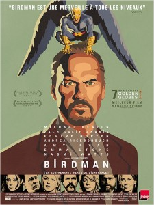 BIRDMAN - Affiche FRANCE film Inarritu 2015 Michael Keaton - Go with the Blog