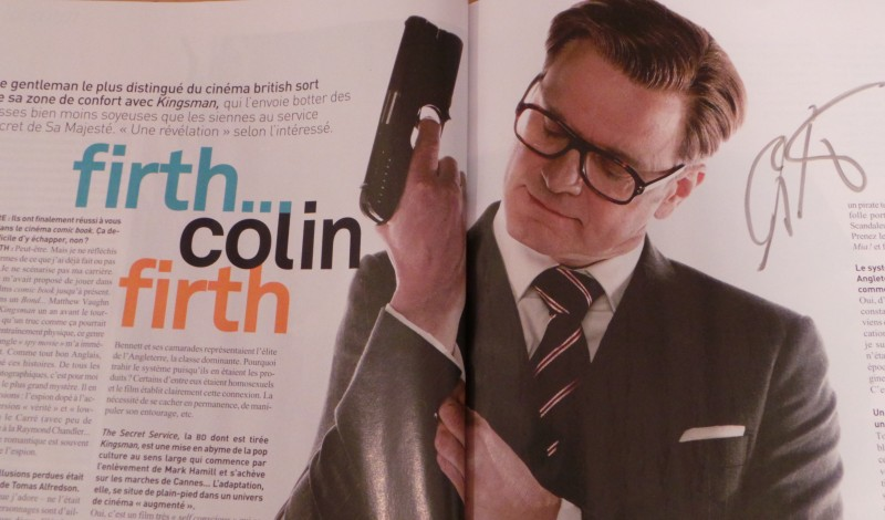 KINGSMAN SERVICES SECRETS - Masteclass Colin Firth - Matthew Vaughn -2
