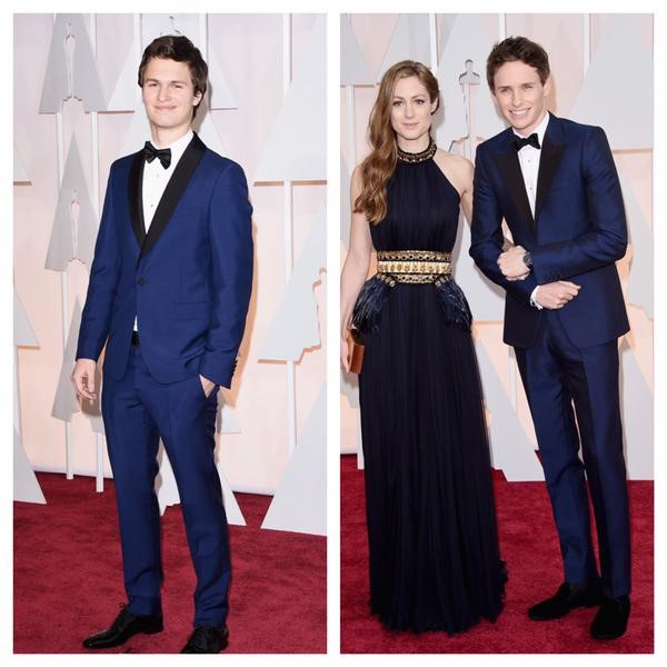 OSCARS 2015 - Eddie Redmayne Ansel Elgort red carpet - Go with the Blog