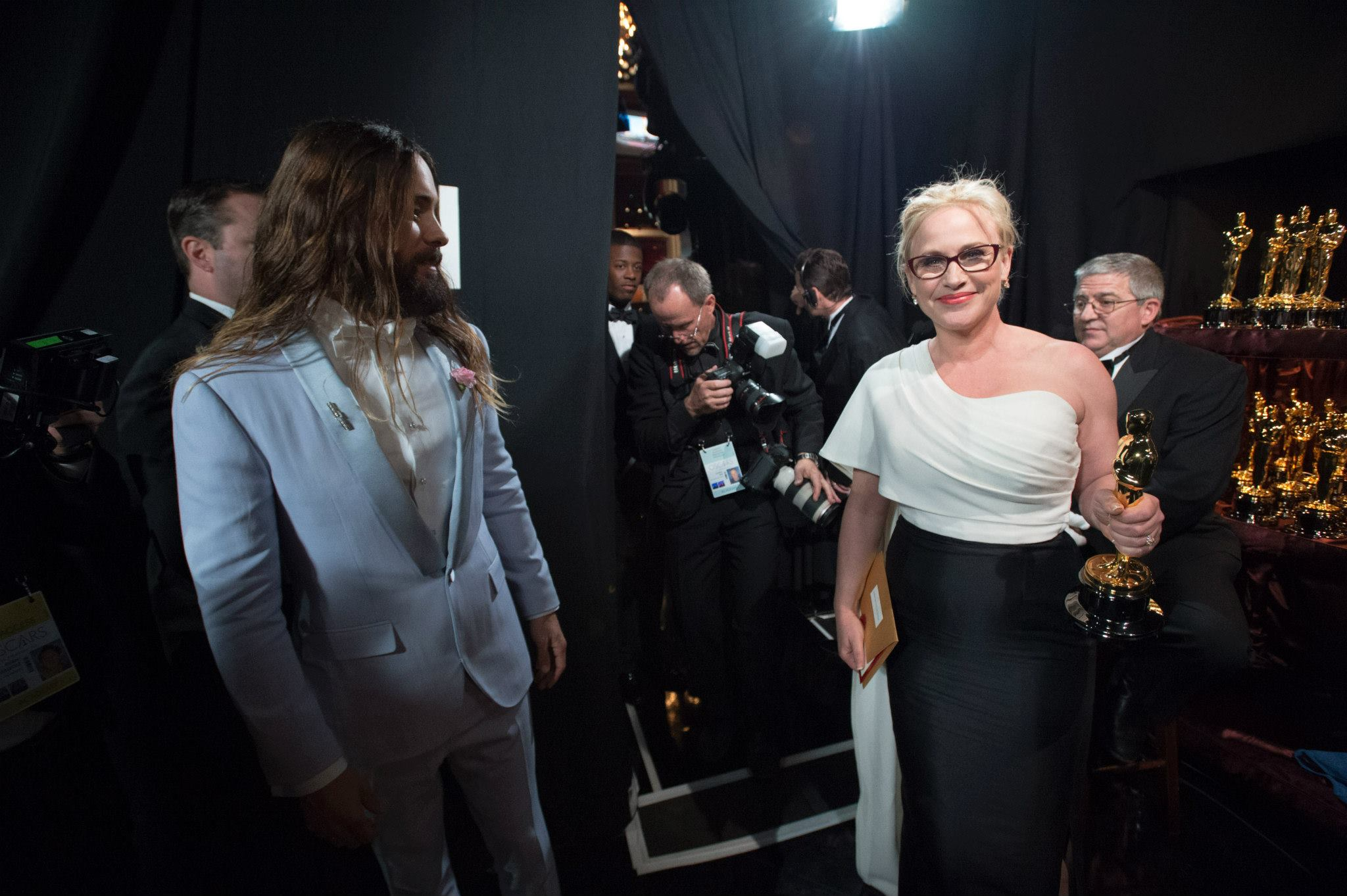OSCARS 2015 - Patricia Arquette best supporting actress with Jared Leto - Go with the Blog