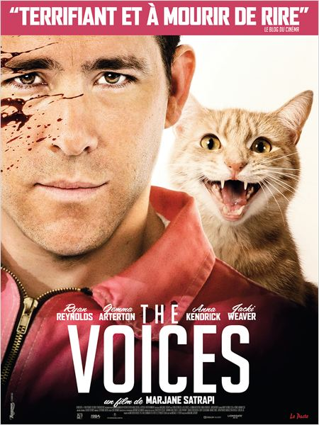 THE VOICES - Affiche FRANCE du film Ryan Reynolds Marjane Satrapi - Go with the Blog