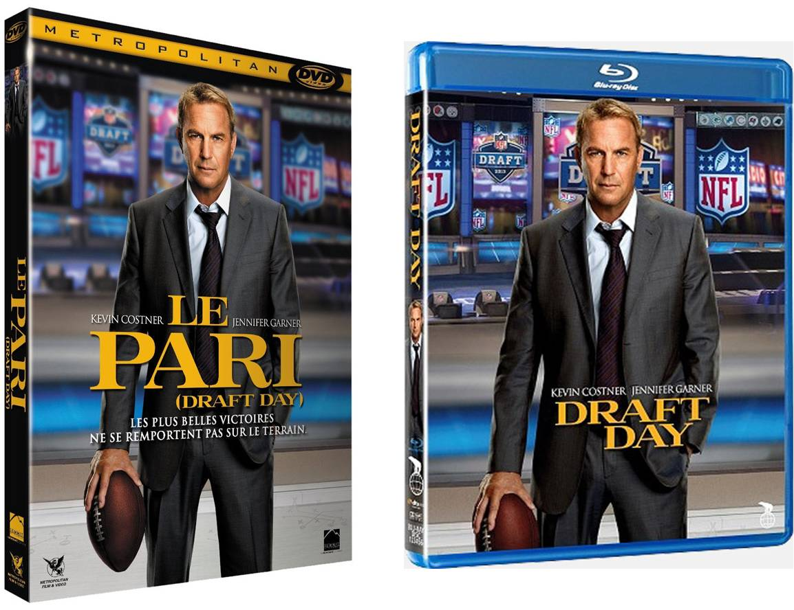 DRAFT DAY LE PARI - Visuel Blu-ray DVD film sortie vidéo Metropolitan Kevin Costner - Go with the Blog