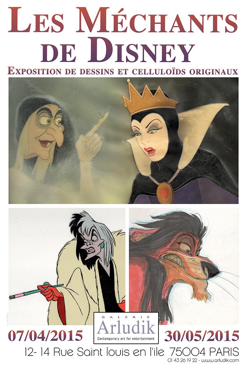 ARLUDIK Exposition Les Méchants Disney - Affiche de l'Exposition - copyright Go with the Blog