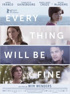 EVERY THING WILL BE FINE - Wim Wenders affiche France - Go with the Blog