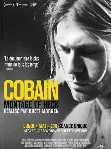 COBAIN MONTAGE OF HECK - Affiche France du documentaire 2015 - Go with the Blog