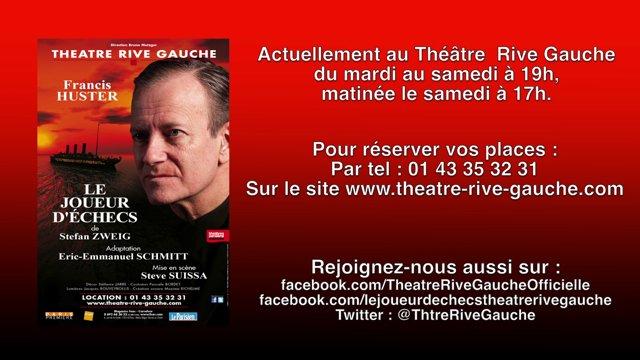 LE JOUEUR D'ÉCHECS Théâtre Rive Gauche Francis Huster Image 2 - Go with the Blog
