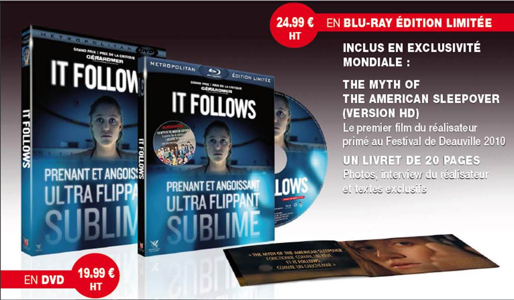 IT FOLLOWS - Film movie DVD Bluray 3 Bluray Exclu Mondiale THE MYTH OF THE AMERICAN SLEEPOVER - Go with the Blog
