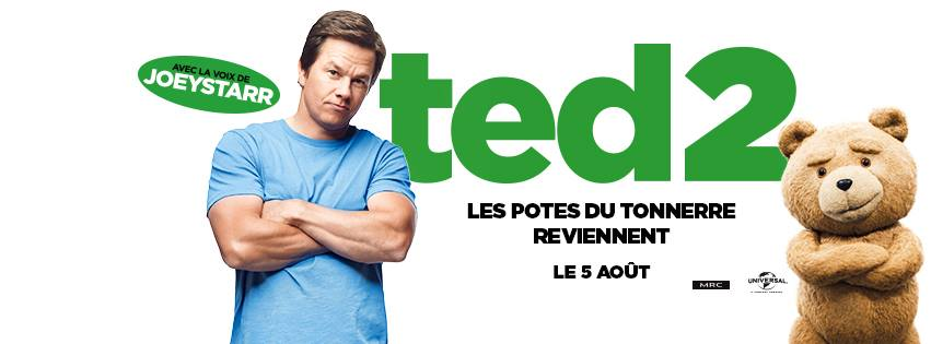 TED 2 - Visuel Bandeau Large du film Whalberg McFarlane 2015 - Go with the Blog