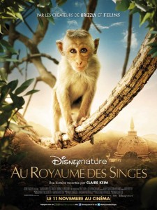 AU ROYAUME DES SINGES - Affiche FRANCE DIsneyNature 2015 - Go with the Blog