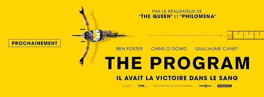 THE PROGRAM - Bandeau visuel film Stephen Frears 2015 Ben Foster - Go with the Blog