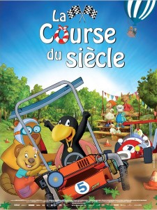 LA COURSE DU SIÈCLE PETIT CORBEAU - Affiche France film animation - Go with the Blog
