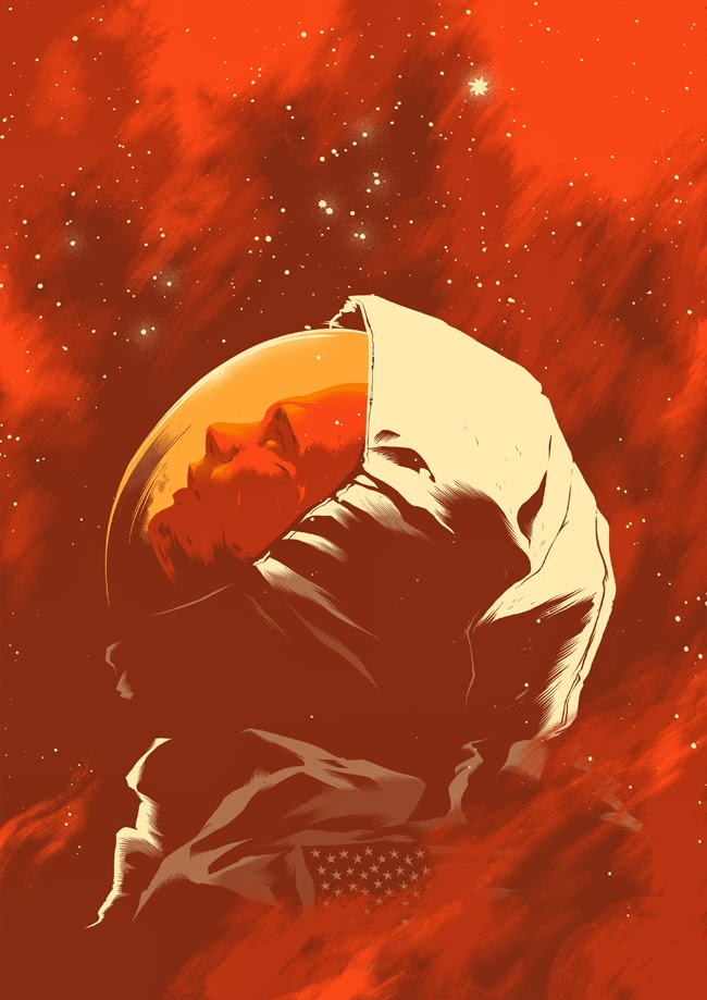 SEUL SUR MARS - The Martian Poster FanArt 4 - Go with the Blog