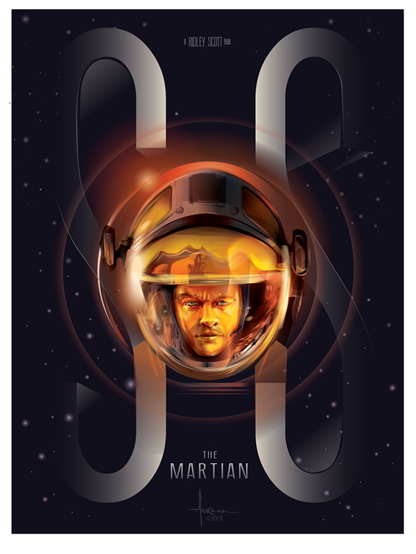 SEUL SUR MARS - The Martian Poster FanArt 5 - Go with the Blog