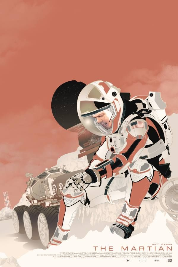 SEUL SUR MARS - The Martian Poster FanArt 8 - Go with the Blog