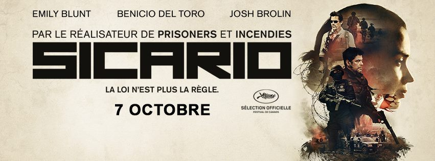 SICARIO - Visuel large Facebook bandeau Affiche France - Go with the Blog