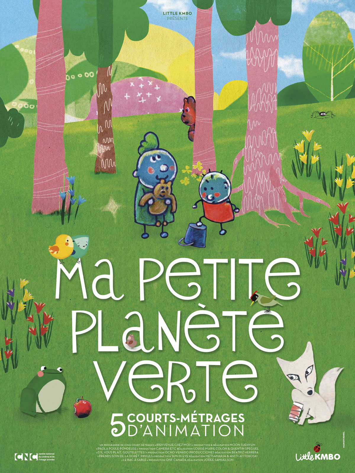 MA PETITE PLANÈTE VERTE - Affiche Film éducatif courts-métrages Little KMBO - Go with the Blog