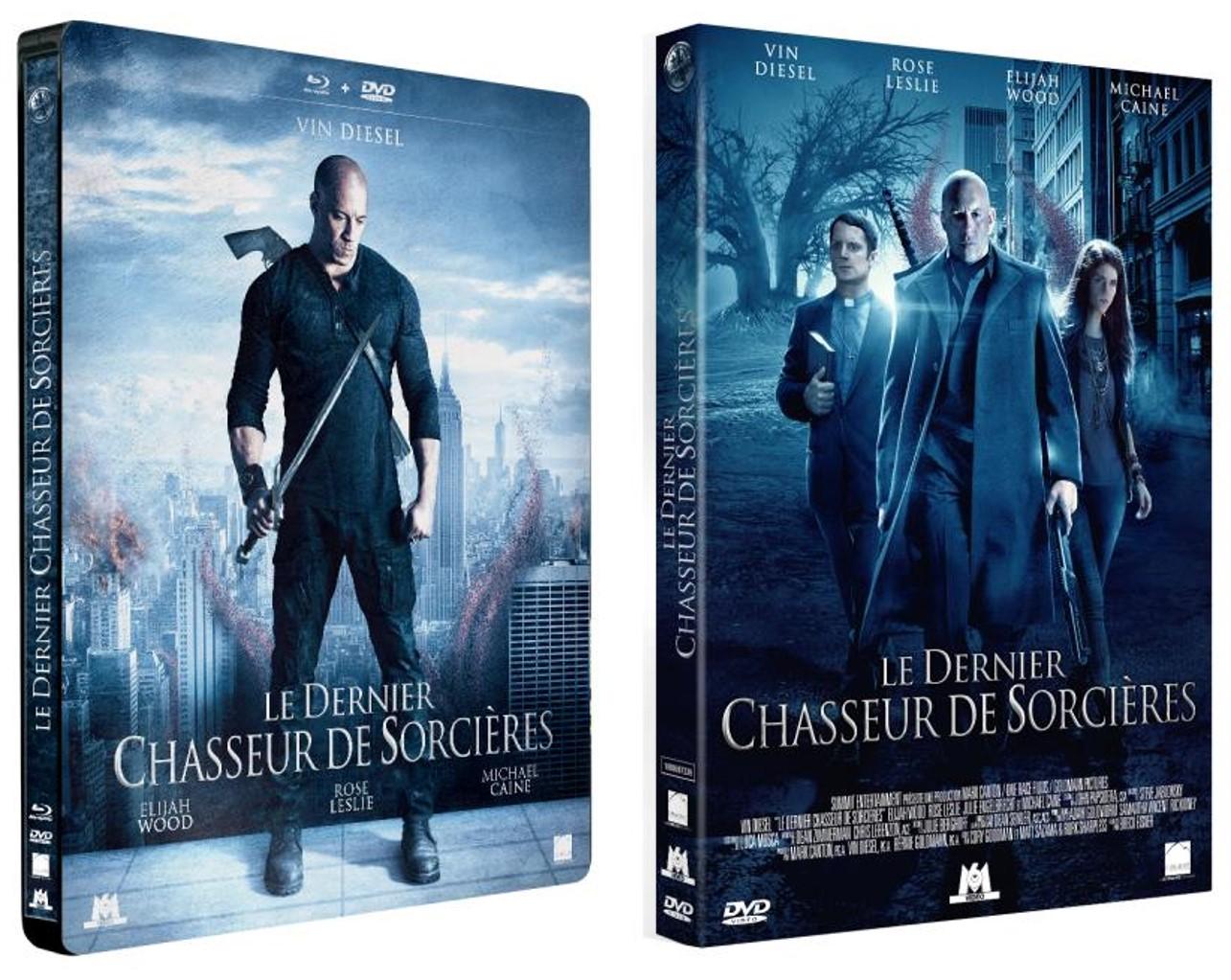 LE DERNIER CHASSEUR DE SORCIÈRES - Visuel Sortie Bluray DVD Steelbook VOD Mars 2016 Packshots - Go with the Blog