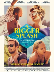 A BIGGER SPLASH - Affiche du film Tilda Swinton Dakota Johnson movie - Go with the Blog
