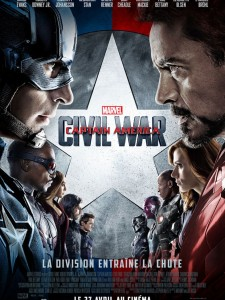 CAPTAIN AMERICA CIVIL WAR - Affiche FRANCE Déf Définitive 2016 Marvel - Go with the Blog
