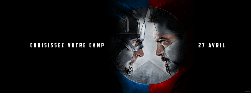 CAPTAIN AMERICA CIVIL WAR - Choose Your Team Choissiez votre camp 27 avril 2016