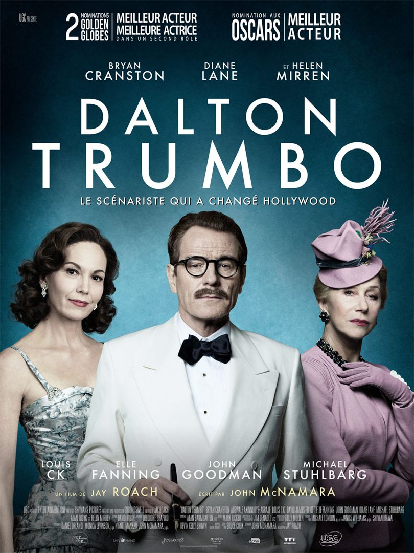 DALTON TRUMBO - Affiche FR film 2016 movie Bryan Cranston - Go with the Blog